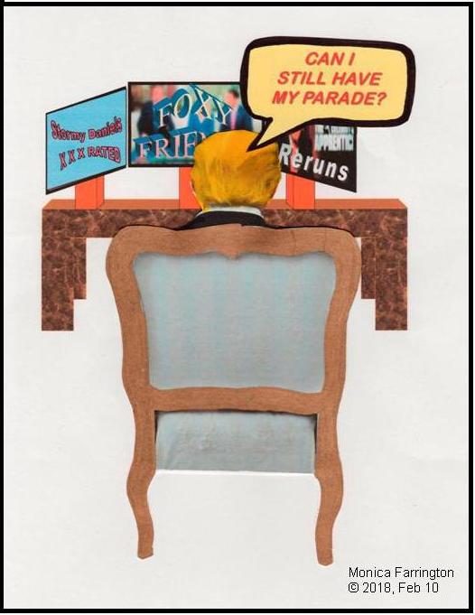 "Panel 3/3 of Cartoon ""Gov't Shutdown,"" by Monica Farrington 10 Feb. 2018"