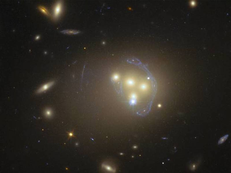 Hubble telescope enables first view of the cosmic entity 'interacting with itself.'