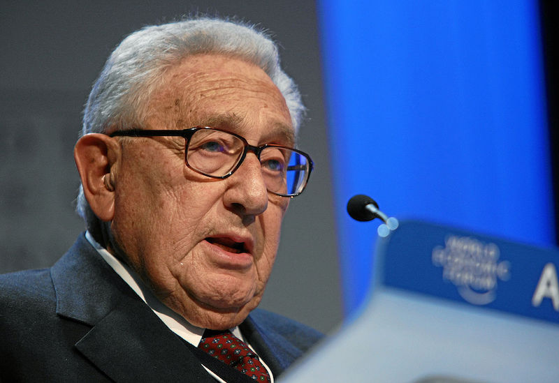 Henry Kissinger - World Economic Forum Annual Meeting Davos 2008. Copyright World Economic Forum (www.weforum.org) www.swiss-image.ch/Photo by Remy Steinegger. Flickr (CC BY-NC-SA 2.0)