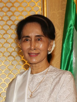 Aung San Suu Kyi. By Foreign and Commonwealth Office [CC BY 2.0] via Wikimedia Commons