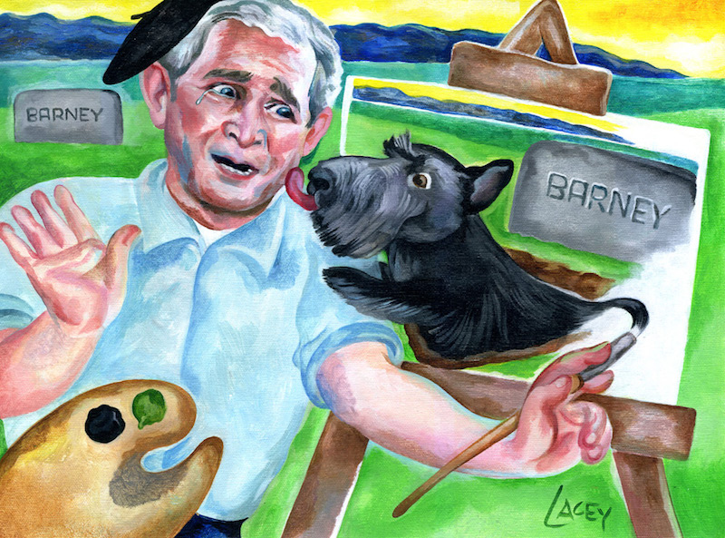 George W. Bush, Painting. By Dan Lacey. Flickr (CC BY-NC 2.0)