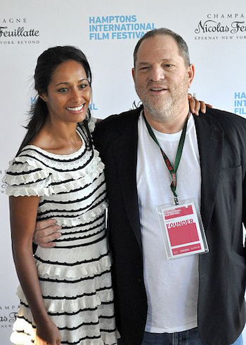 Rula Jabreal and Harvey Weinstein