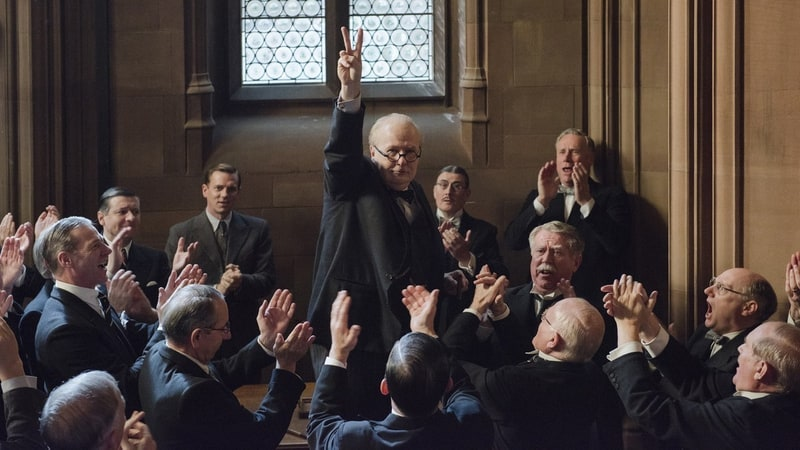 'Darkest Hour' finds Gary Oldman going all in with a fierce, fearsome portrayal of Prime Minister Winston Churchill.