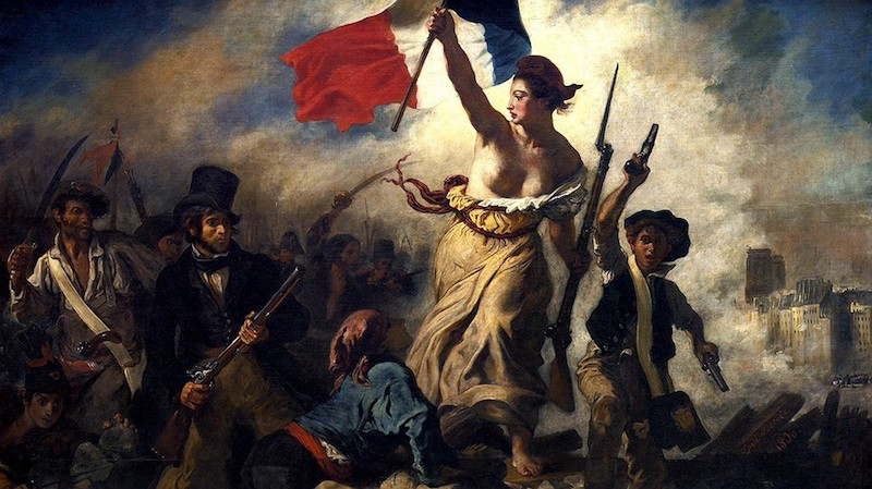 """Liberty Leading the People"" in a painting by Eugene Delacroix. Photo by: Wikimedia Commons/Musee du Louvre"