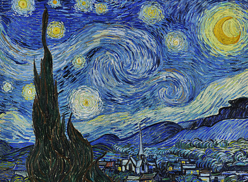 Vincent van Gogh. The Starry Night. 1889. Oil on canvas. From Wikipedia.