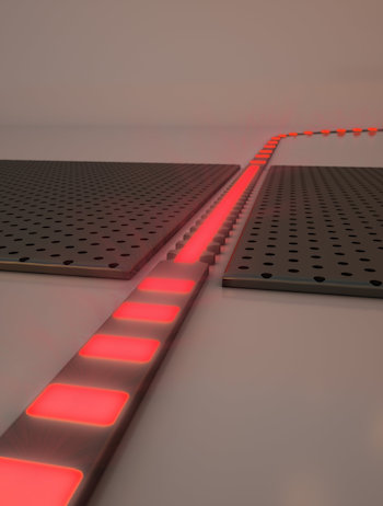 A zero-index waveguide compatible with current silicon photonic technologies. Credit: Second Bay Studios/Harvard SEAS