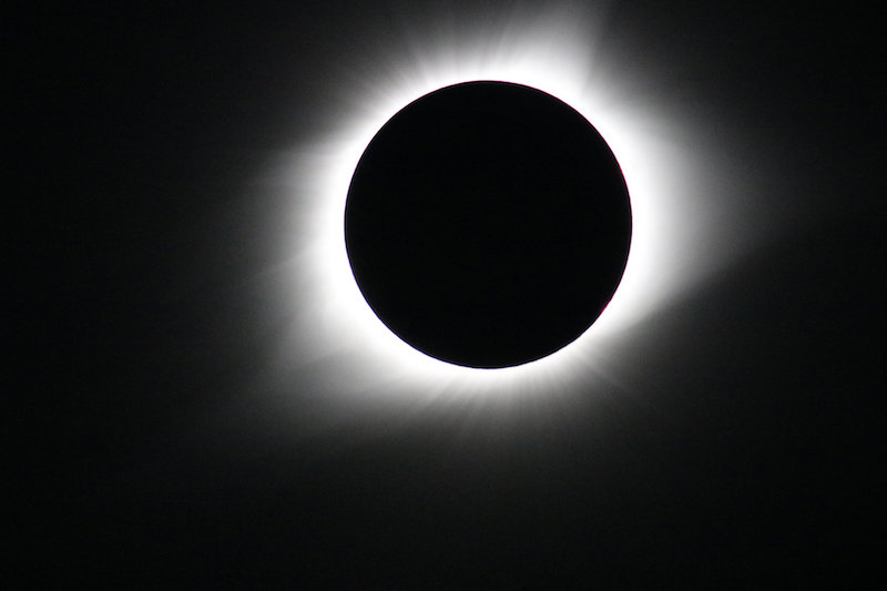 Parker Solar Probe will explore the corona, a region of the Sun only seen from Earth when the Moon blocks out the Sun's bright face during total solar eclipses. The corona holds the answers to many of scientists' outstanding questions about the Sun's activity and processes. This photo was taken during the total solar eclipse on Aug. 21, 2017. Credit: NASA/Gopalswamy