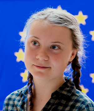 On 16 April 2019, Greta Thunberg is invited by the European Parliament to close the sessions of the Committee on the Environment. CC BY 2.0