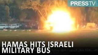 Retaliatory attack: Hamas hits Israeli military bus with a guided-missile